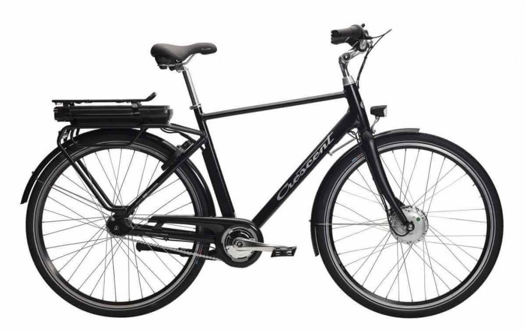 Svart elcykel Crescent Elwin 7 växlar